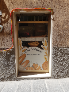 """Personalizzazione vetrofania panificio """"F.lli Sordini"""""""
