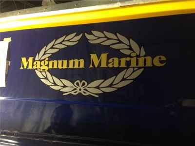 """Intaglio logo """"Magnum Marine"""""""
